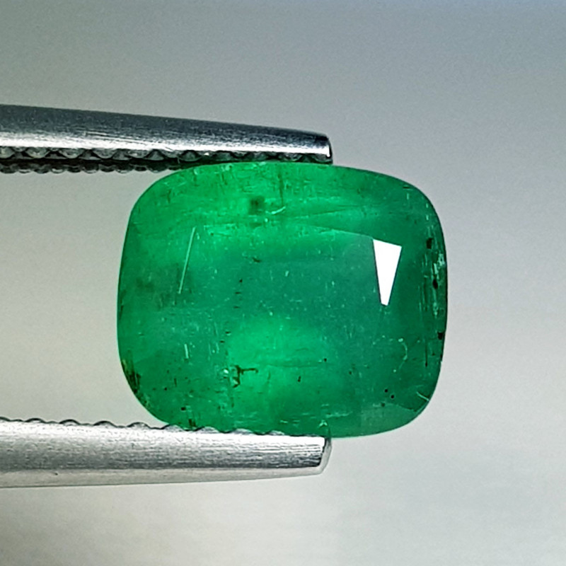 2.00 ct  Top Grade Gem Awesome Cushion Cut Natural Emerald