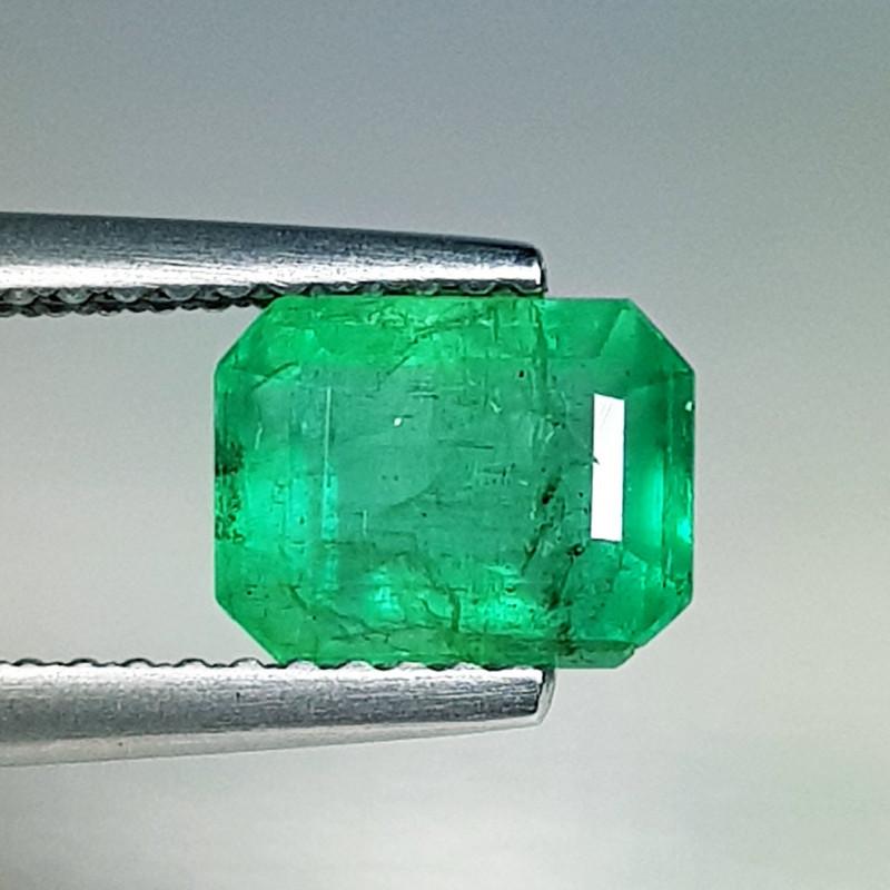 1.91 ct  Fantastic Gem Amazing Octagon Cut Natural Emerald