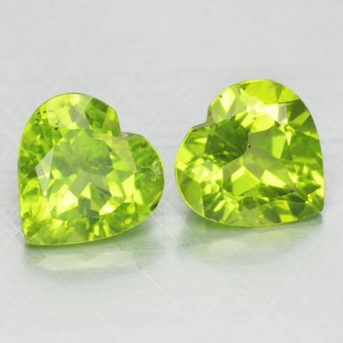 3.77 Cts Amazing Rare Fancy Green Natural Peridot Gemstone Pairs