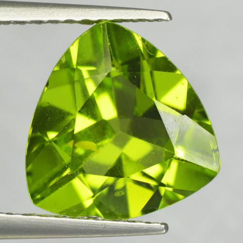 3.07 Cts Amazing Rare Fancy Green Natural Peridot Gemstone