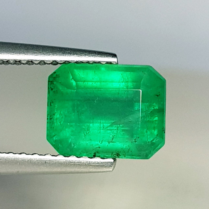 2.10 ct  Collective Gem Awesome Emerald Cut Natural Emerald