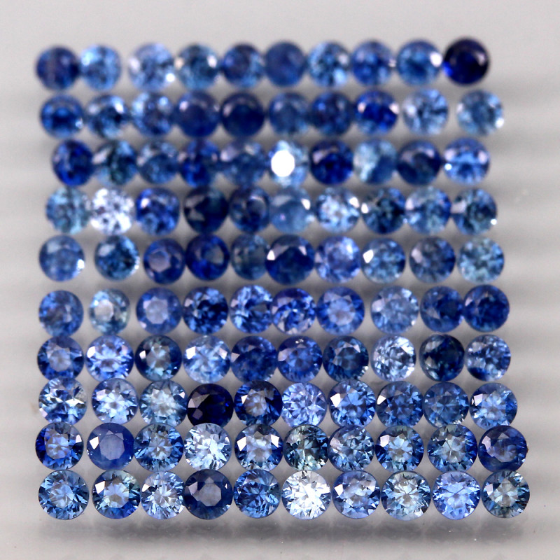 2.92  Ct. 1.7 mm Natural Cornflower Blue Sapphire Sri Lanka Diamond Cut