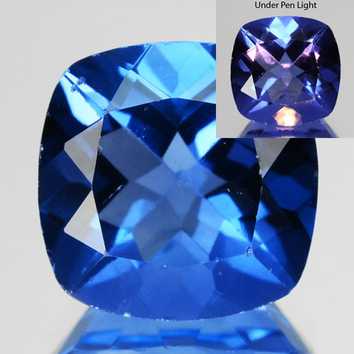 4.50 Cts Natural Color Change Fluorite 10mm Cushion Cut Afghanistan