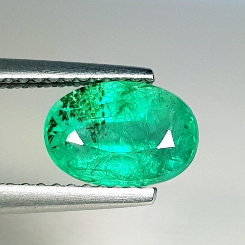 1.75 ct  Top Grade  Amazing Oval Cut Natural Emerald