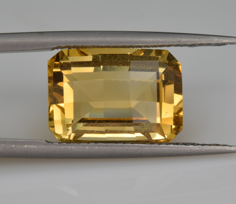 Natural Citrine 8.03  Cts Faceted Gemstone