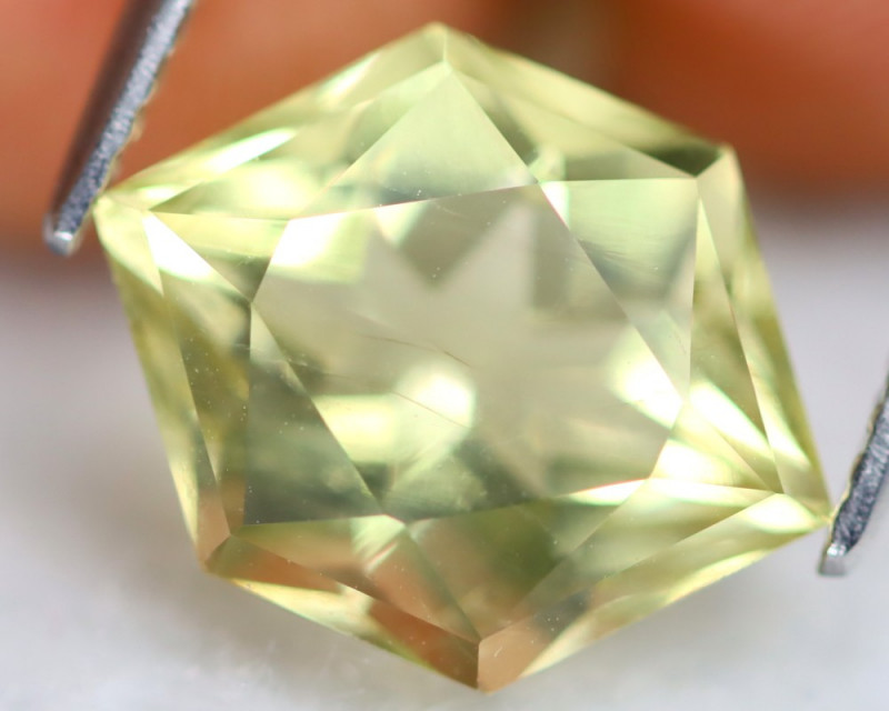 Prasiolite 4.51Ct Designer Cut Natural Brazilian Prasiolite B1907