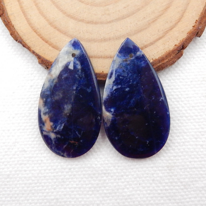31.5cts Blue Sodalite Earrings Square earrings beads, stone for earrings ma