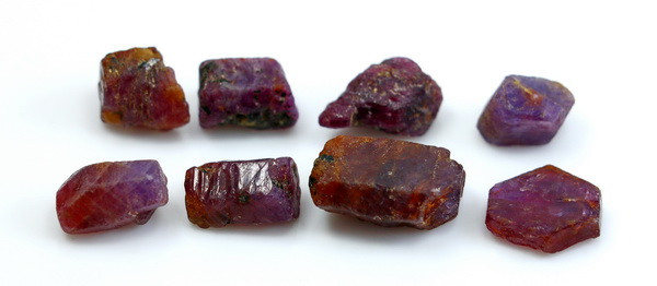 65.30 CT Natural - Unheated Red Ruby Crystal Rough Lot