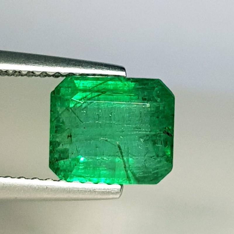 1.40 ct  Excellent Gem  Beautiful Octagon Cut Natural Emerald