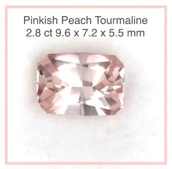 Pretty  Peach Precision Cut Tourmaline  - Nigeria G577