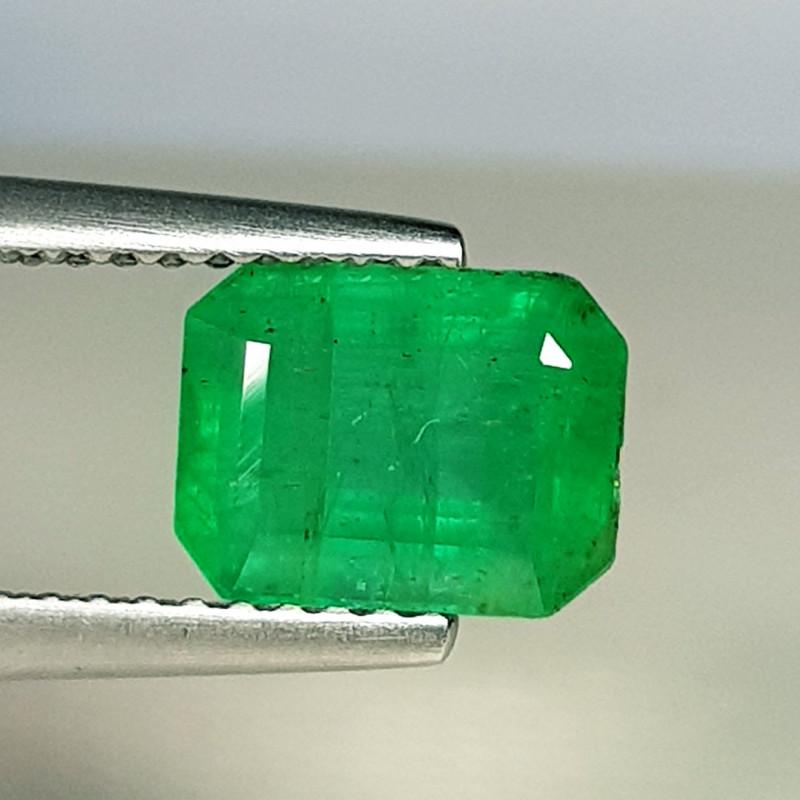 1.70 ct  Amazing Gem Excellent Octagon Cut Natural Emerald