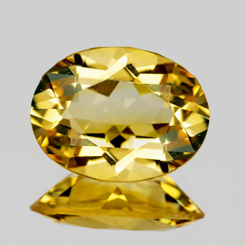 16x12 mm Oval 8.06cts Golden Yellow Citrine [VVS]