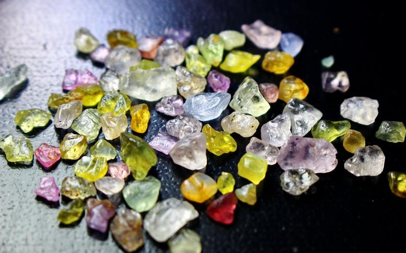 50.60 CT Natural - Unheated  Multi Sapphire Rough Lot