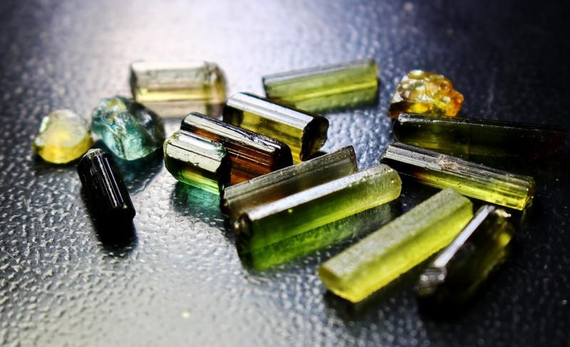 29.60 Cts Unheated & Natural Green Tourmaline Crystal Lot