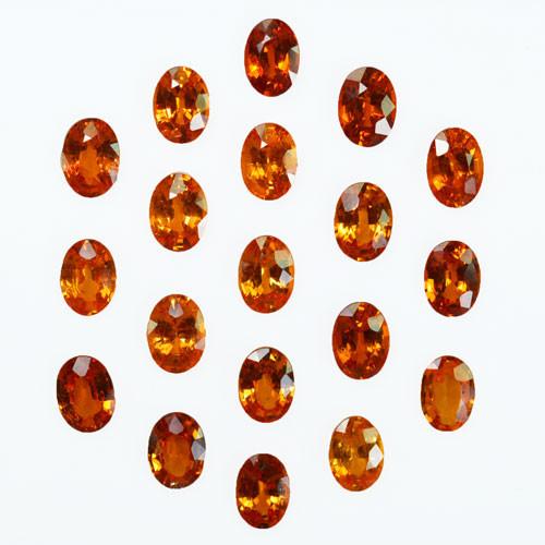 18.00Ct Natural Mandarin Orange spessertite garnet Oval 7 X 5mm Calibrated