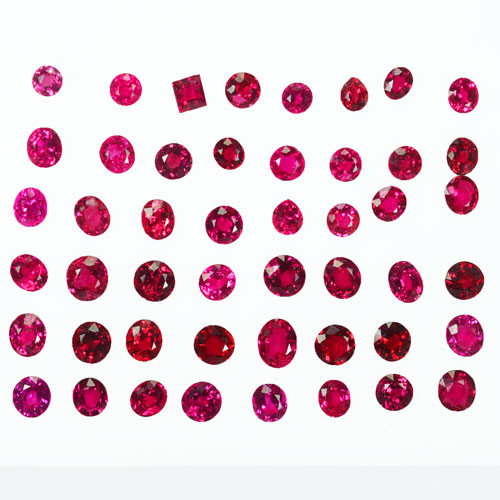 12.15Ct Natural Vibrant Red Natural Burmese Spinel Parcel
