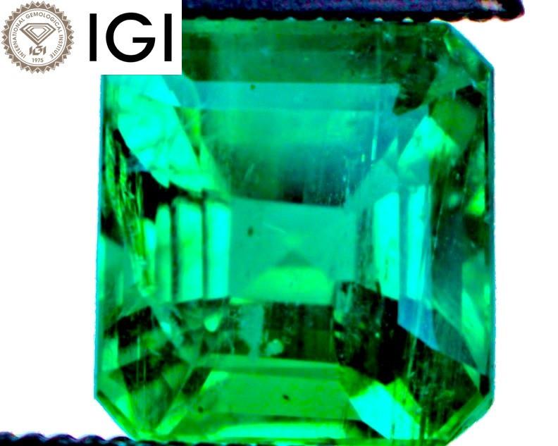 MINOR OIL! VVS! IGI ANTWERP VIVID Emerald $9,250 | FREE INSURED SHIPPING!