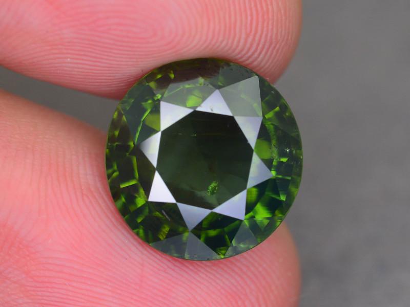 Rare 10.98 ct Green Zircon Great Luster Unheated Cambodia SKU.9