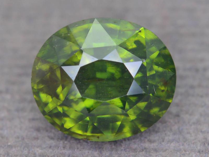 Rare 4.87 ct Green Zircon Great Luster Unheated Cambodia SKU.9