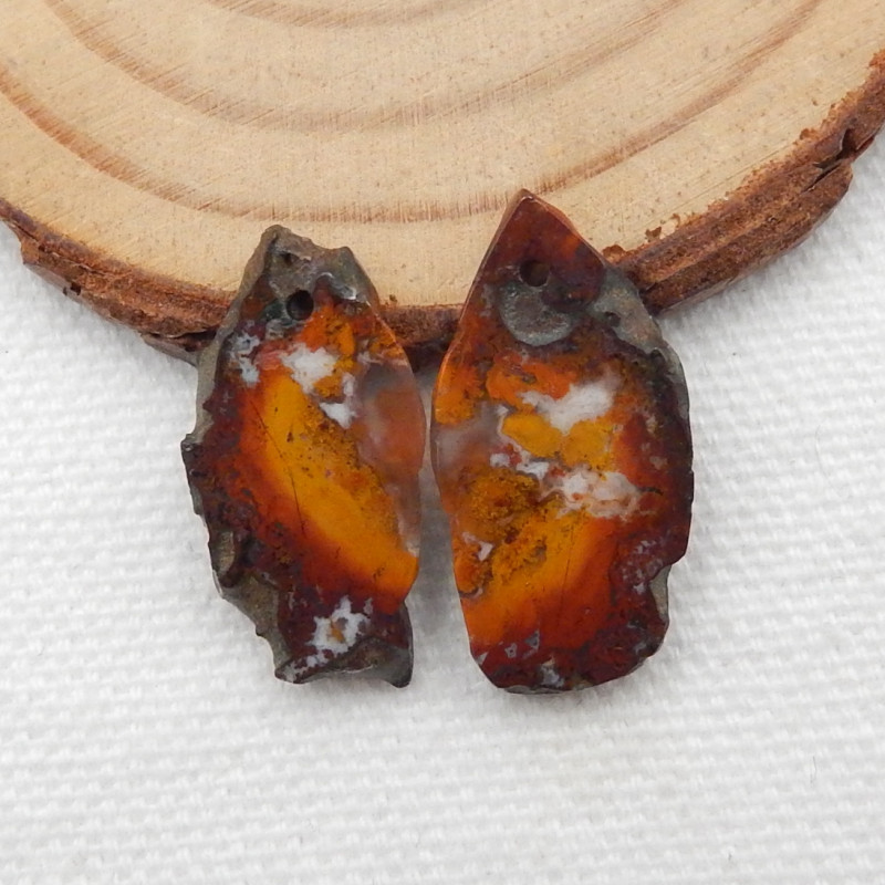 16cts Nugget Agate Earrings gemstone earrings beads, stone for earrings G24