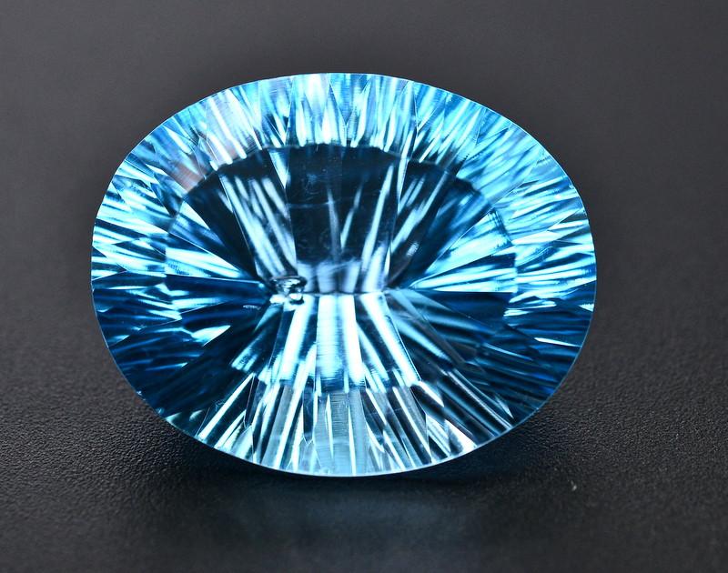 Amazing Laser Cut 36.60 Ct Natural Swiss Blue Color Topaz