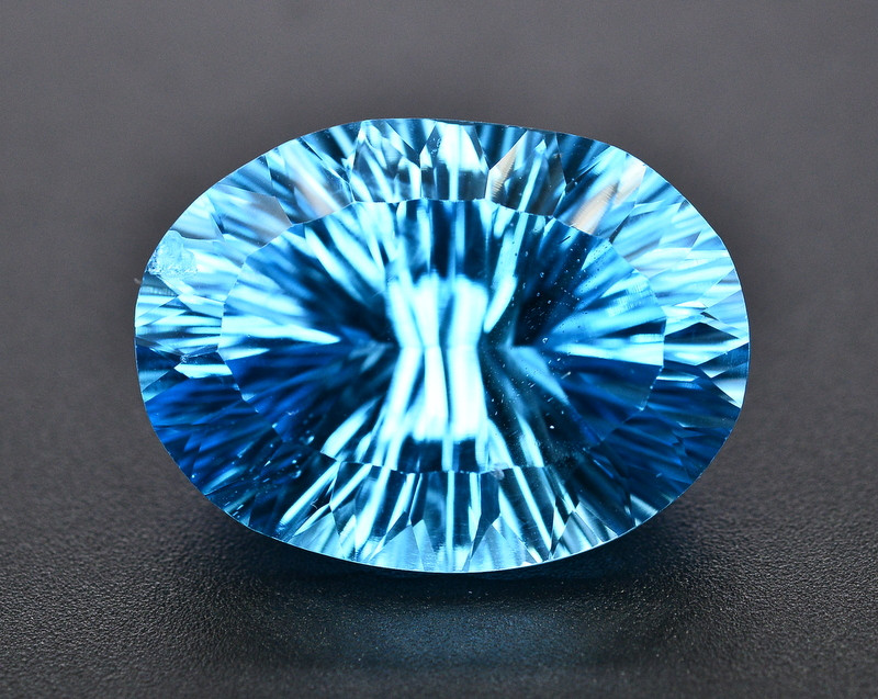 Amazing Laser Cut 40.40 Ct Natural Swiss Blue Color Topaz