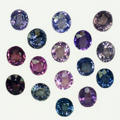 7.70Ct Natural Multi colour spinel Round mix Oval  4.50mm parcel