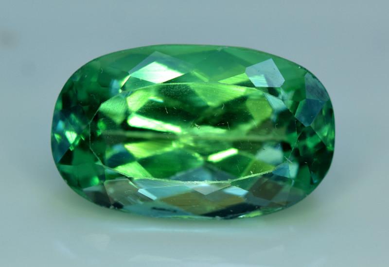 NR Auction 11.25 Grams Amazing Lush Green Hiddenite Kunzite Gemstone