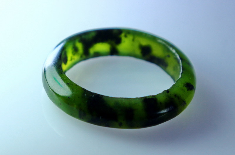 13.15 CT Natural Jade Carved Ring Special Shape
