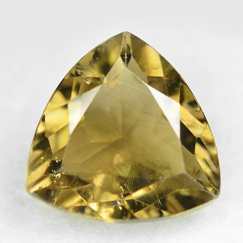 3.07 Cts Un Heated Yellow  Color Natural Tourmaline Loose Gemstone
