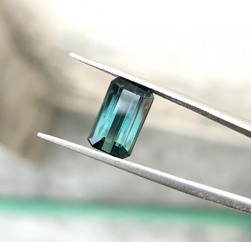 2.80 Ct Natural Dark  Blueish Transparent Tourmaline Gemstone