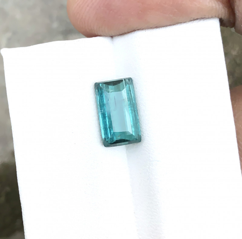 2.15 Ct Natural Blueish Transparent Tourmaline Ring Size Gemstone