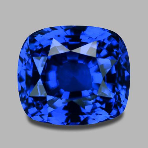 High gem quality Ceylon natural vivid blue sapphire.