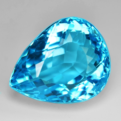 34.79 Carat Amazing Rare Super Swiss Blue Color Natural Topaz Gemstones