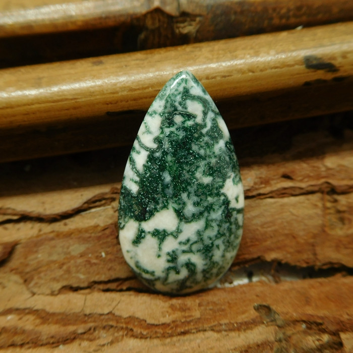 Moss agate cabochon (G1959)