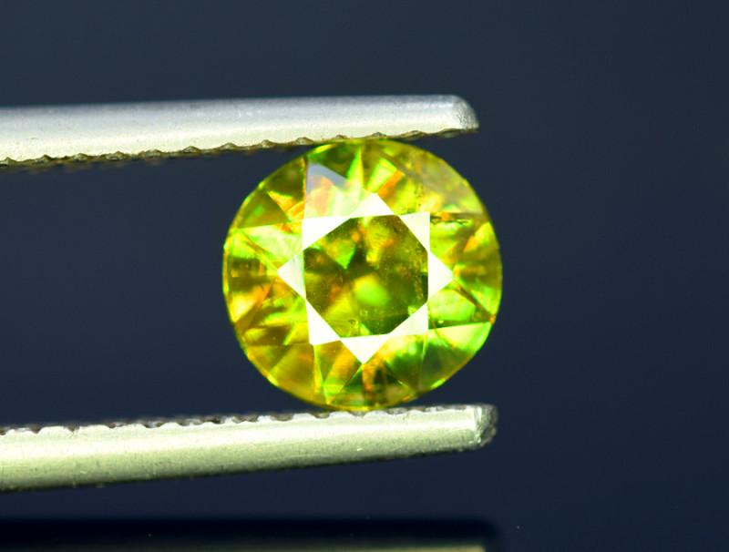 Sphene Titanite, 1.50 CT Natural Full Fire Sphene Titanite Gemstone