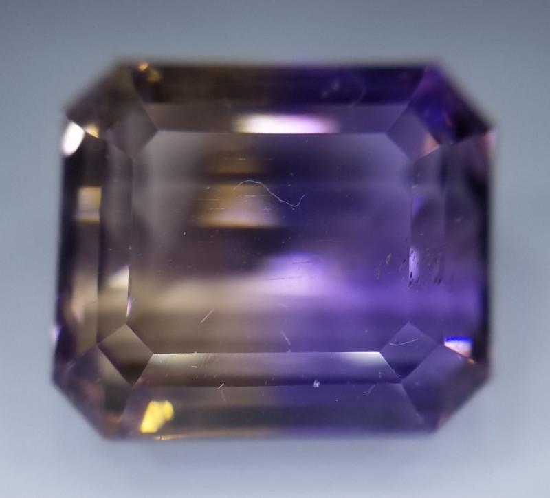 Ametrin,  7.10ct, as usual bicoloured very nice gemstone!!