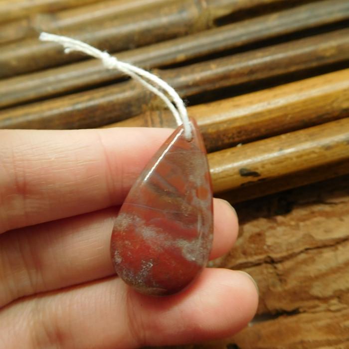 Natural fancy agate pendant bead (G1989)