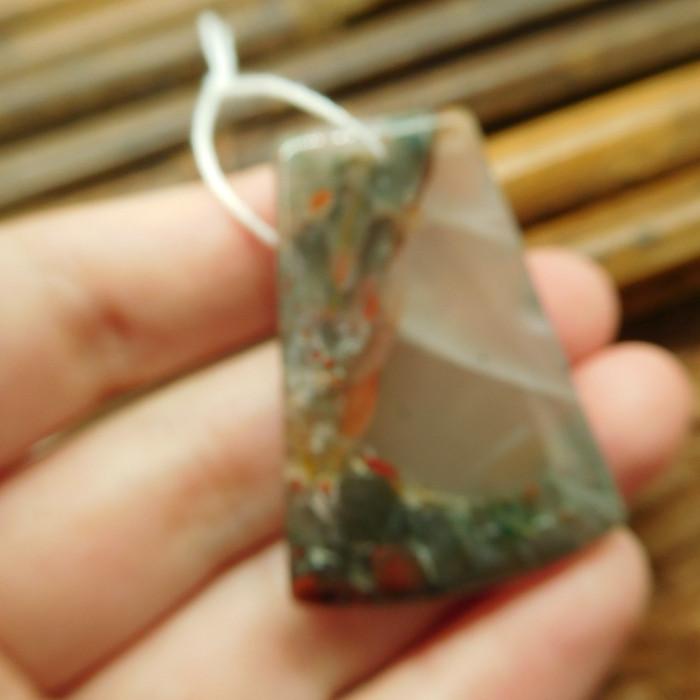 Natural gemstone african bloodstone pendant (G1990)