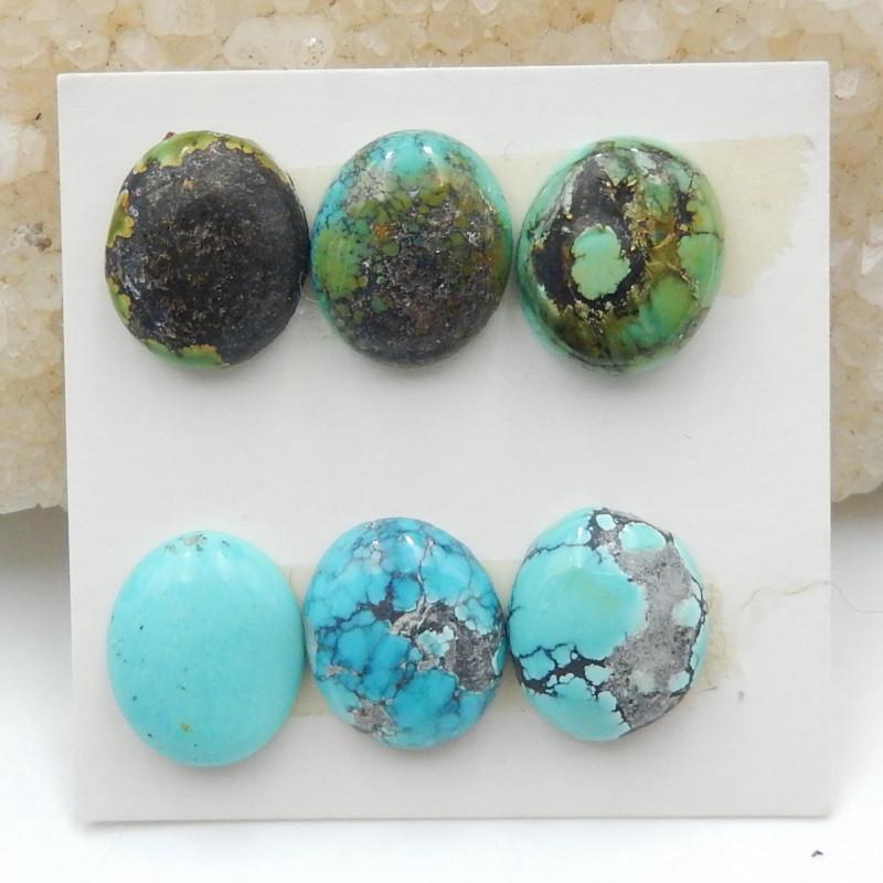 22cts Turquoise,Intarsia Cabochon,Handmade Gemstone ,Turquoise Cabochons G3