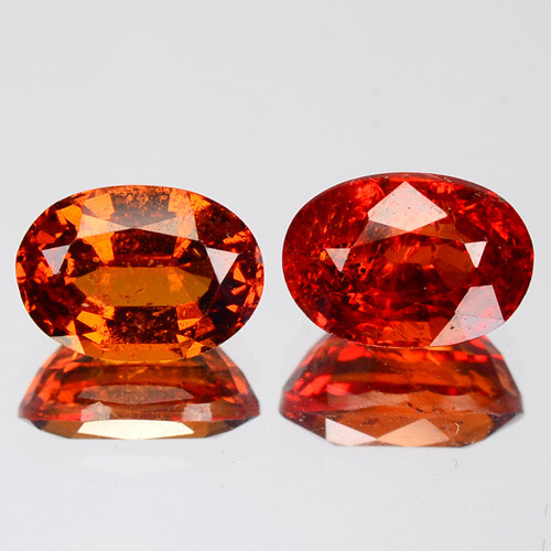 2.75 Cts Rare Fancy Orange Red Color Natural Spessartite Garnet Gemstone Pa