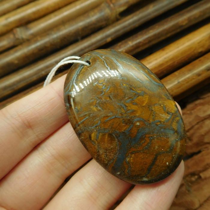 Gemstone tiger eye pendant bead (G2023)