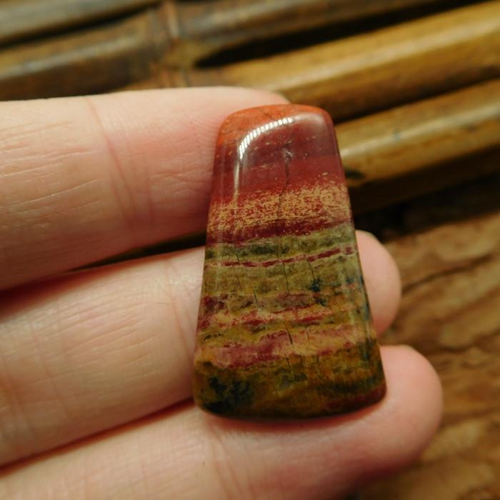 Red jasper cabochon for pendant (G2024)