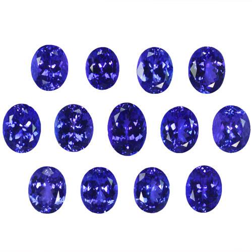~BEAUTIFUL~ 42.06 Cts Natural AAA Blue Tanzanite 13Pcs Oval Cut Tanzania ~R