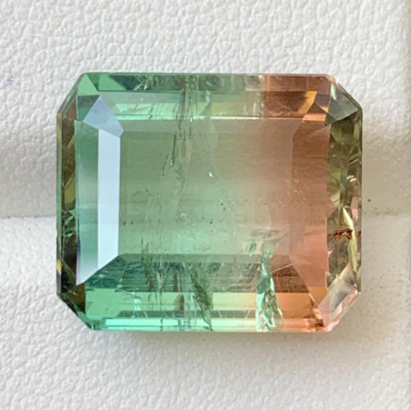 15.25 Carats Natural Bi Color Tourmaline Gemstone