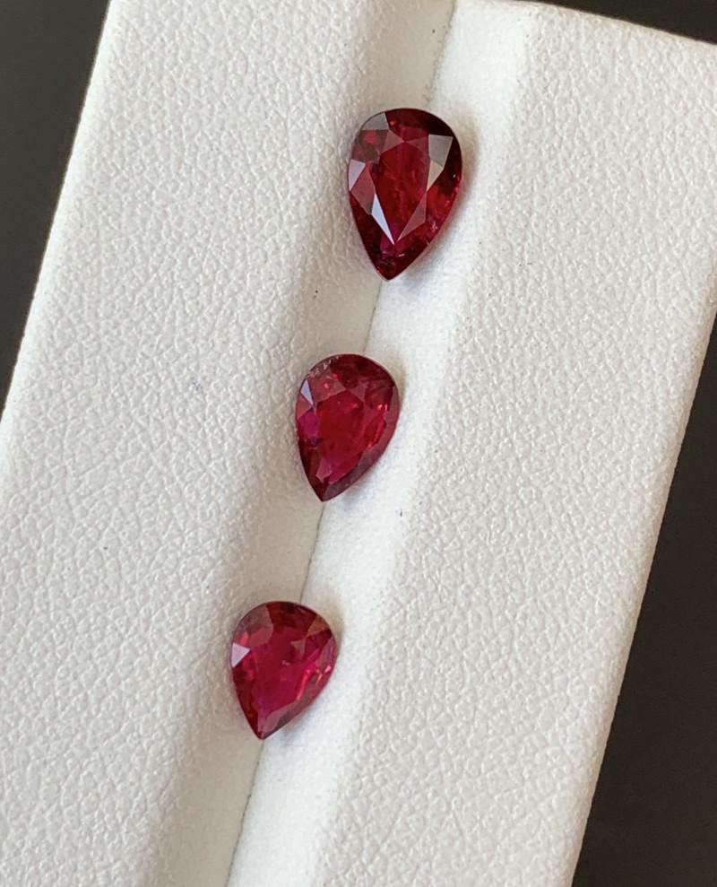 2.45 Carats Natural Rubellite  Tourmaline Gemstones