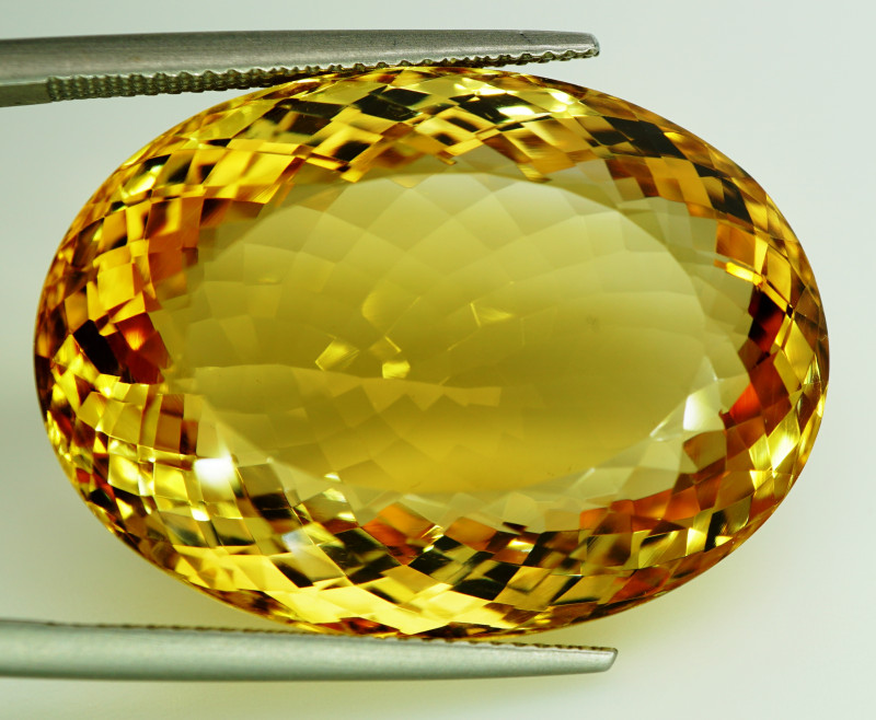 60.35 ct. 100% Natural Top Yellow Golden Citrine Unheated -IGE Certificat