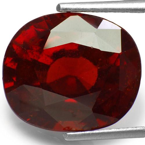 GII Certified Sri Lanka Hessonite Garnet, 10.47 Carats, Cushion