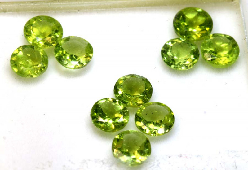 8.45 CTS GREEN PERIDOT FACETED PARCEL 10 PCS   CG-3029