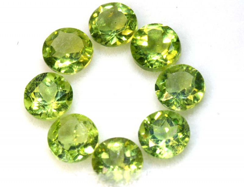 6.50 CTS GREEN PERIDOT FACETED PARCEL 8PCS   CG-3028